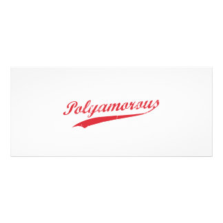 Team Polyamory Polyamorous und stolzes Werbekarte