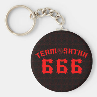 Team Satan 666 Standard Runder Schlüsselanhänger