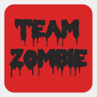 Team-Zombie Quadratischer Aufkleber