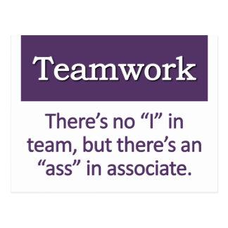 Teamwork-Definition Postkarte