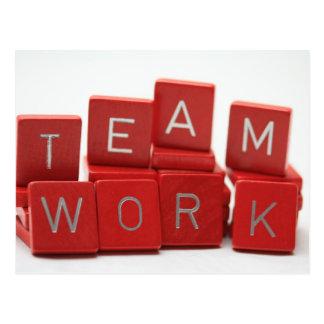 Teamwork-Karte Postkarte