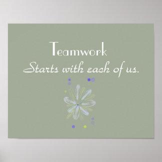 Teamwork-motivierend Plakat