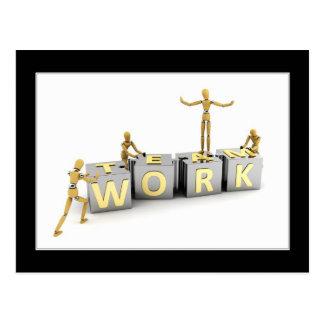 Teamwork - Postkarte
