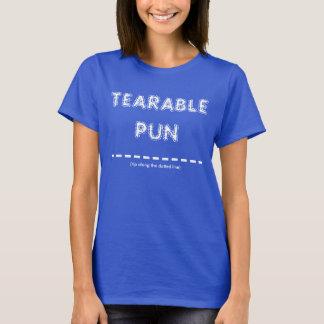 Tearable Wortspiel T-Shirt