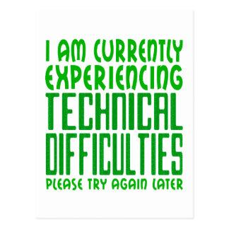 Technische Schwierigkeiten Postkarte