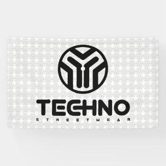 Techno Streetwear - Logo - Fahne Banner