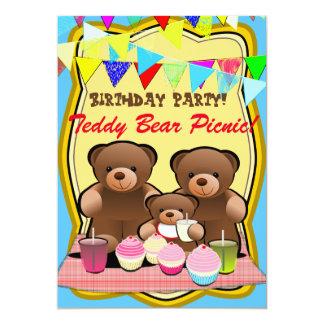Teddy-Bärn-Picknick scherzt Party 12,7 X 17,8 Cm Einladungskarte