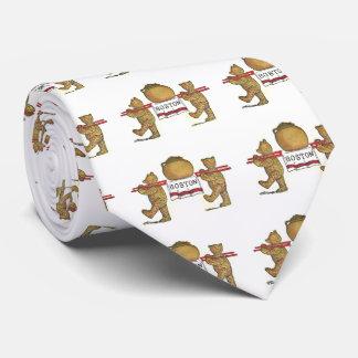 Teddybären und Boston gebackene Bohnen Individuelle Krawatten