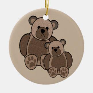 Teddybären verzieren (Doppeltes versah) mit Seiten Keramik Ornament