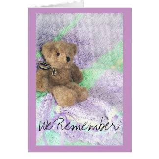 Teddybärfürsorge Karte