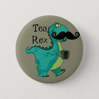 Tee Rex lustige Dinosaurier-Cartoon-Anspielung Runder Button 5,7 Cm