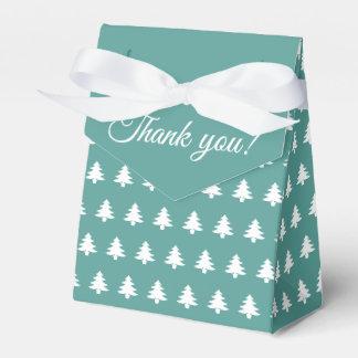 Tee-/weißesweihnachtsGastgeschenk-Baum lPattern Geschenkschachtel
