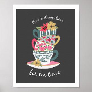 Tee-Zeit-Kunst-Druck durch Origami Drucke Poster