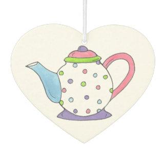 Tee-Zeit-Polka-Punkt-Teekanne-Tee-Party Teaparty Lufterfrischer