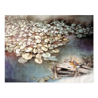 Teichleben, klassische chinesische Kunst Postkarte