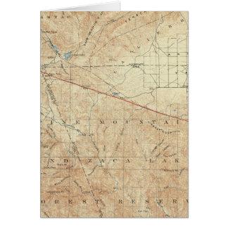 Tejon Viereck, das San- Andreasriß zeigt Karte