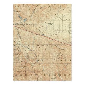 Tejon Viereck, das San- Andreasriß zeigt Postkarte
