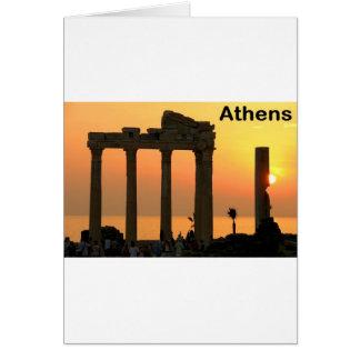 Tempel Athens Griechenland (Sounion) von Apollo Karte