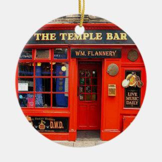 Tempel-Bar, Dublin, Irland, Weihnachtsverzierung Keramik Ornament