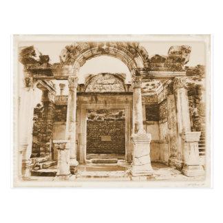 Tempel von Hadrian in Ephesus VINTAGER FOTOGRAFIE Postkarte
