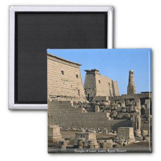 Tempel von Luxor, Luxor, Ägypten Wüste Quadratischer Magnet