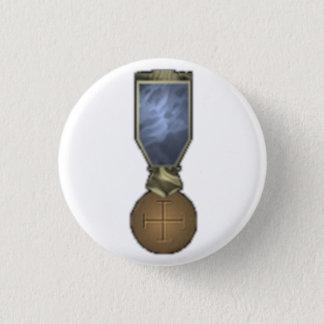 Templar Kreuz Runder Button 2,5 Cm