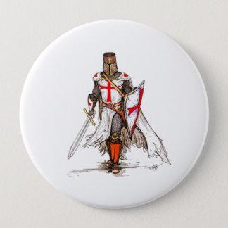 Templar Ritter Runder Button 10,2 Cm
