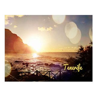 Teneriffa-Abends-Lichter Postkarte