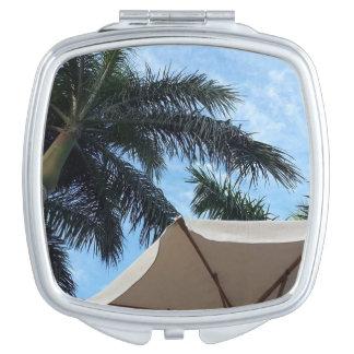 Teneriffa-Palme-Vertrags-Spiegel Taschenspiegel