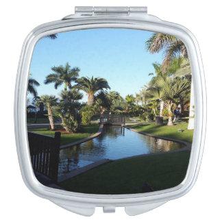 Teneriffa-Strom mit Palme-kompaktem Spiegel Taschenspiegel