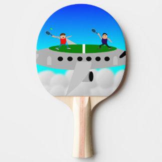 Tennis auf ein Flugzeug Ping pong Schlägern Tischtennis Schläger