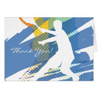 Tennis danken Ihnen, mit nettem Entwurf zu kardier Grußkarte