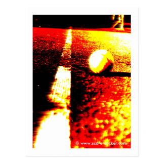 Tennis-Foto auf Postkarte