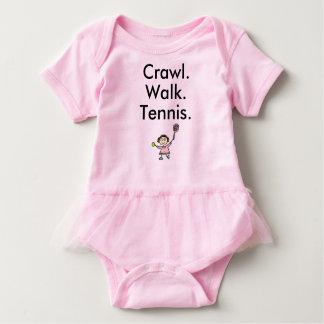 Tennis-Mädchen-Rosa-Baby-Bodysuit mit Baby Strampler