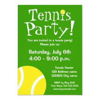 Tennis-Party Einladungen für Geburtstage oder