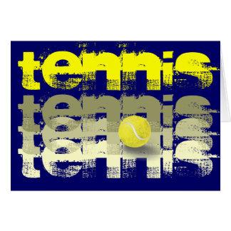 Tennis-Spieler-Geburtstag Karte
