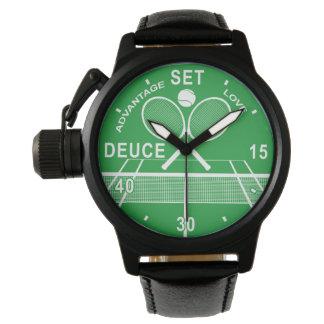 Tennis-Spieler, Tennis-Uhr Uhr