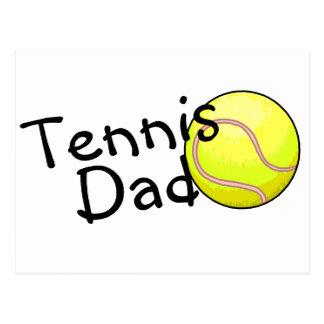 Tennis-Vati Postkarte