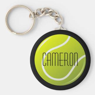 Tennisball auf personalisiertem Namen des Schlüsselanhänger