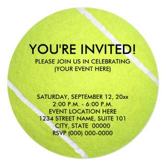 Tennisball-Einladungen Karte