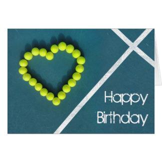 Tennisherz alles Gute zum Geburtstag Karte