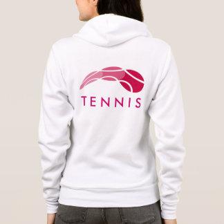 Tenniskleidung   der Frauen trägt Hoodie mit Logo