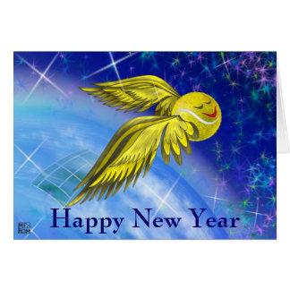 Tennissatellit guten Rutsch ins Neue Jahr Karte