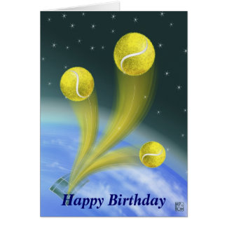 Tennissieg alles Gute zum Geburtstag Karte