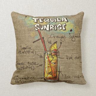 Tequila-Sonnenaufgang/Bloody- Maryrezept-Kissen Kissen