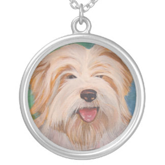 Terrier-Porträt Versilberte Kette