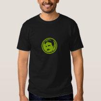 Tesla grünes Porträt Shirt