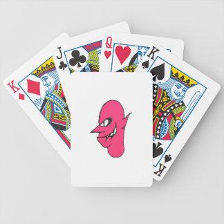Teufel-Gesichts-Charakter-Illustration Poker Karten