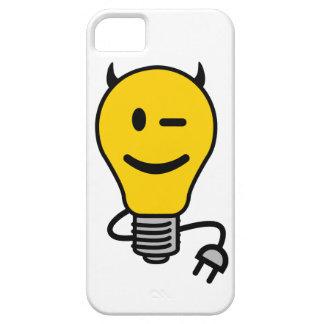 Teufel-Glühlampe mit dem Stecker-Schwanz iPhone 5 Hüllen