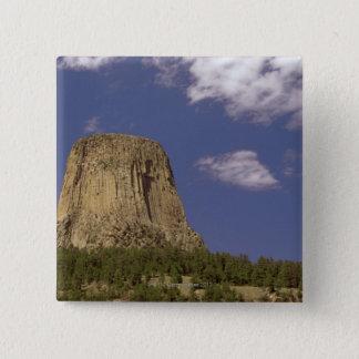 Teufel-Turm in Wyoming Quadratischer Button 5,1 Cm